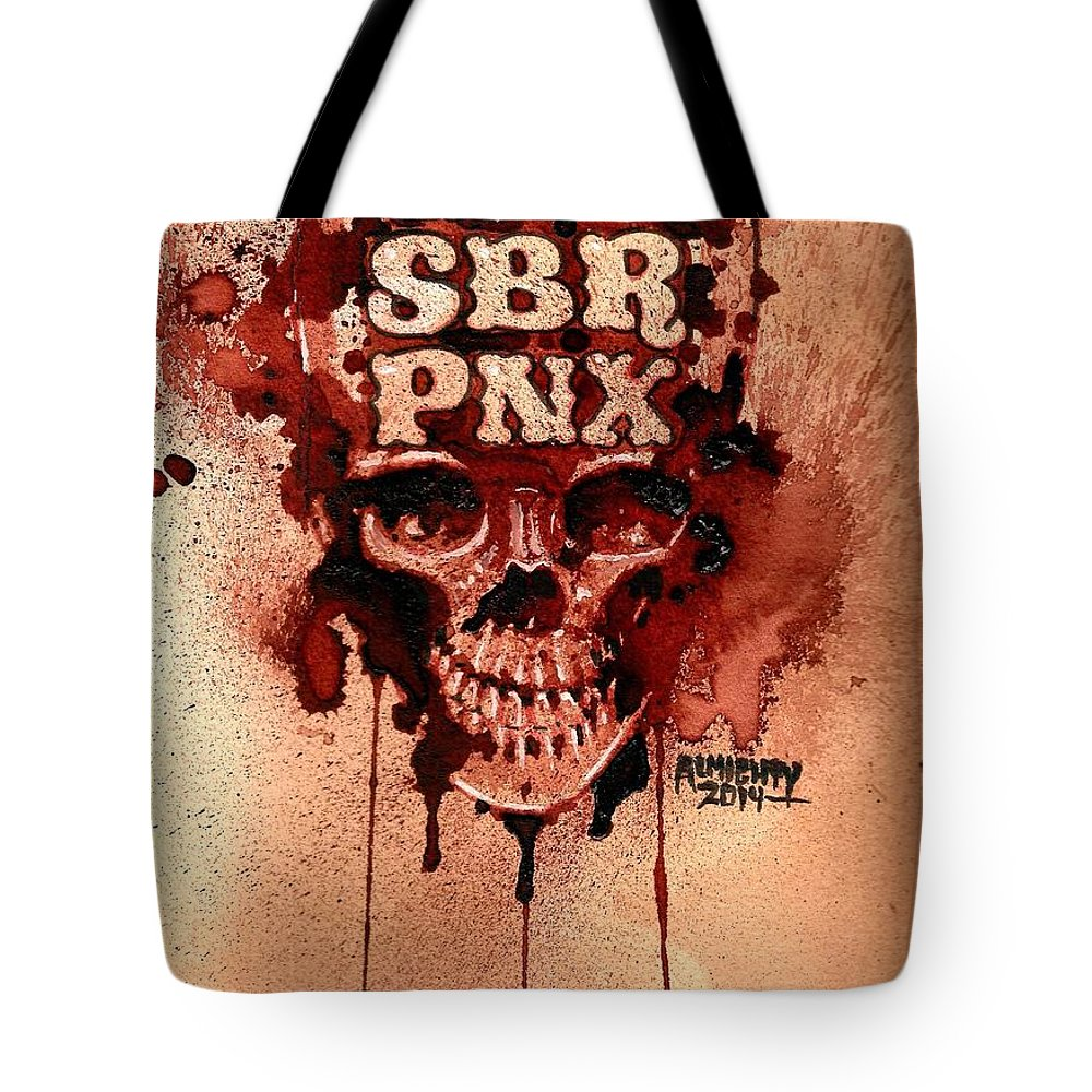 Punk Tote Bag featuring the painting Cln Sbr Pnx by Ryan Almighty