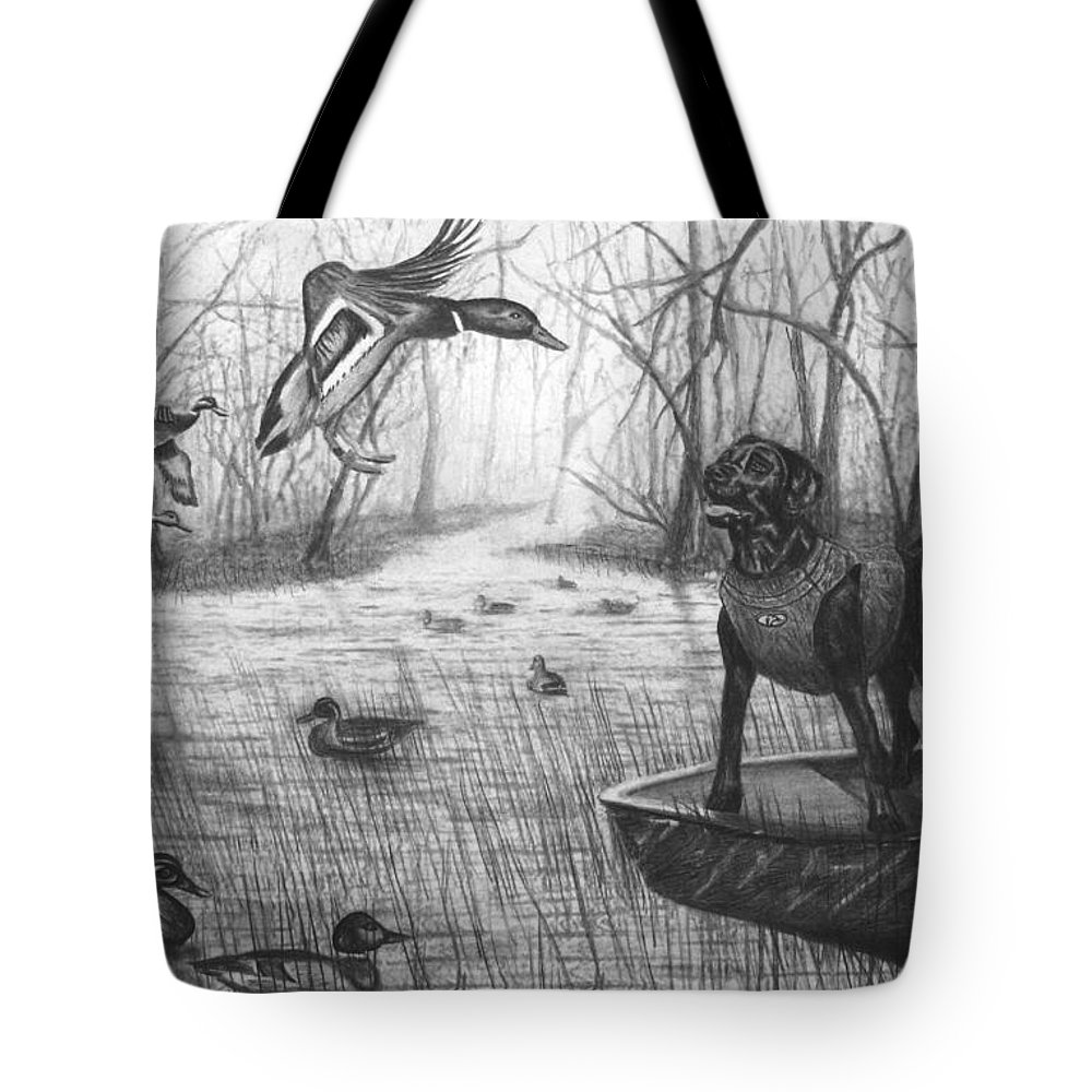 Cloaked Tote Bag featuring the drawing Cloaked by Peter Piatt