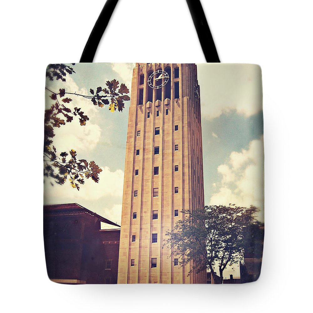 Photo Tote Bag featuring the photograph Clock Tower by Phil Perkins