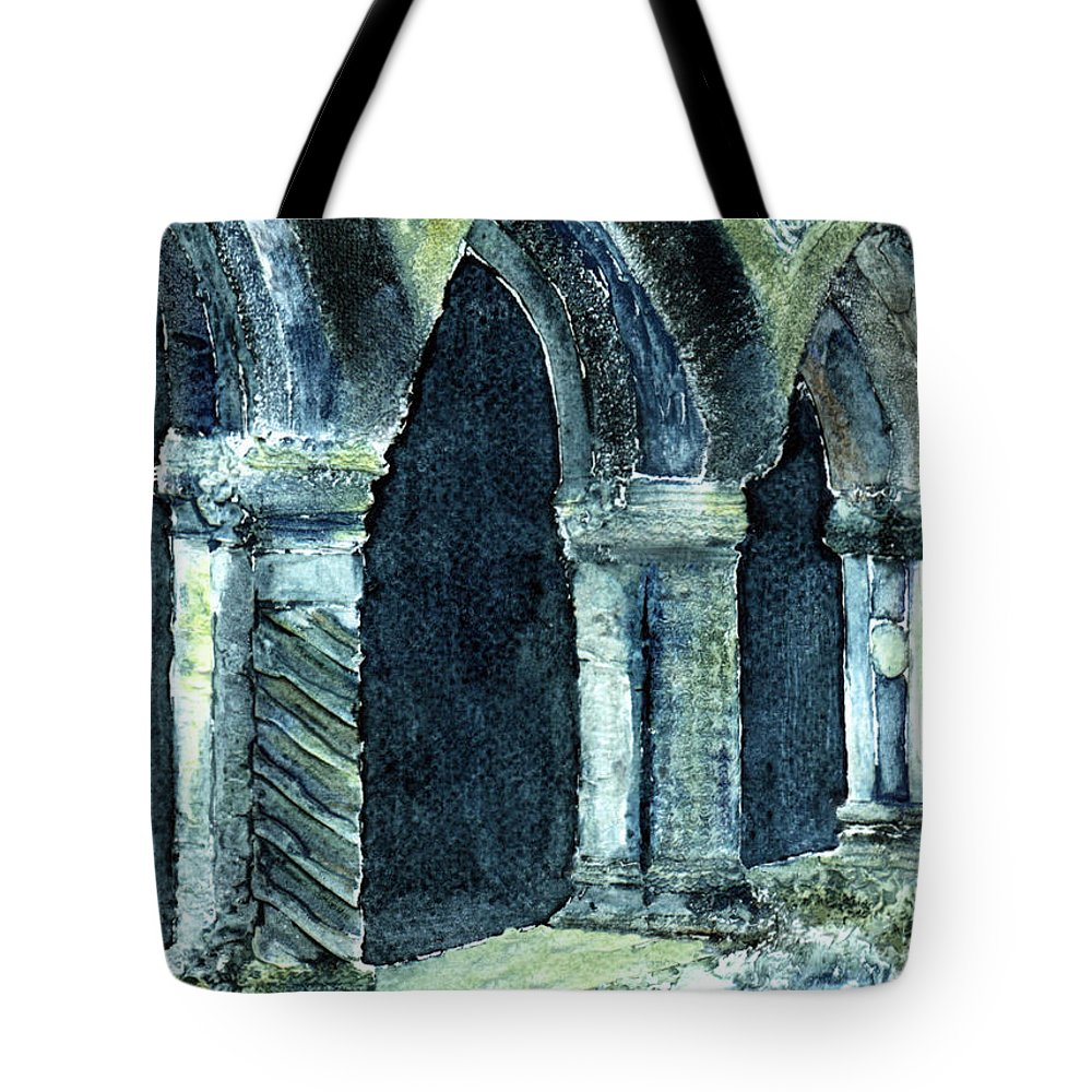 Irish Tote Bag featuring the digital art Cloisters by Anne Marie ODriscoll