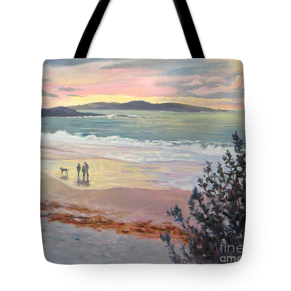 California Beach Tote Bag featuring the painting Close Of The Day by Rhett Regina Owings