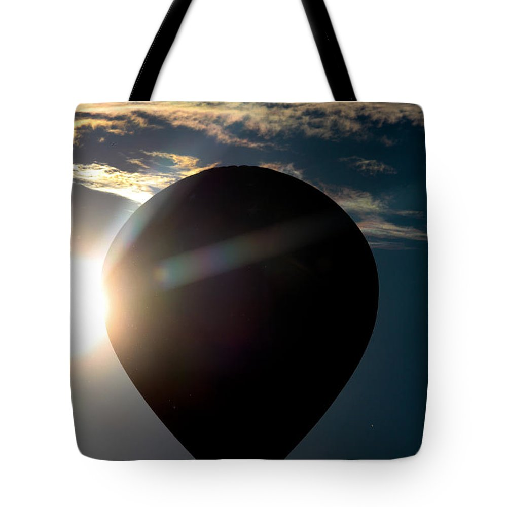 Balloon Tote Bag featuring the photograph Close To The Sun by Victory Designs