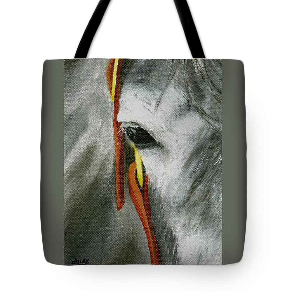 Horse Art Tote Bag featuring the painting Close Up by Deborah Butts