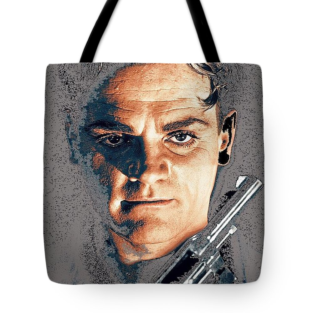Close Up James Cagney As Gangster Rocky Sullivan In Angels With Dirty Faces 1938-2008 Tote Bag featuring the photograph Close Up James Cagney As Gangster Rocky Sullivan In Angels With Dirty Faces 1938-2008 by David Lee Guss