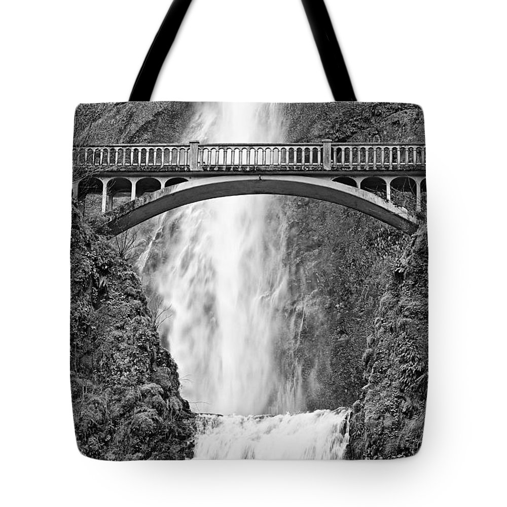 Waterfall Tote Bag featuring the photograph Close Up View Of Multnomah Falls by Jamie Pham