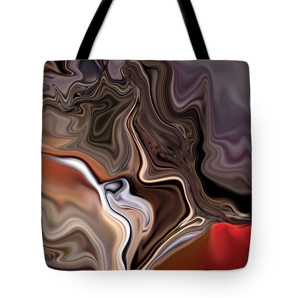 Abstract Tote Bag featuring the digital art Closer by Rabi Khan