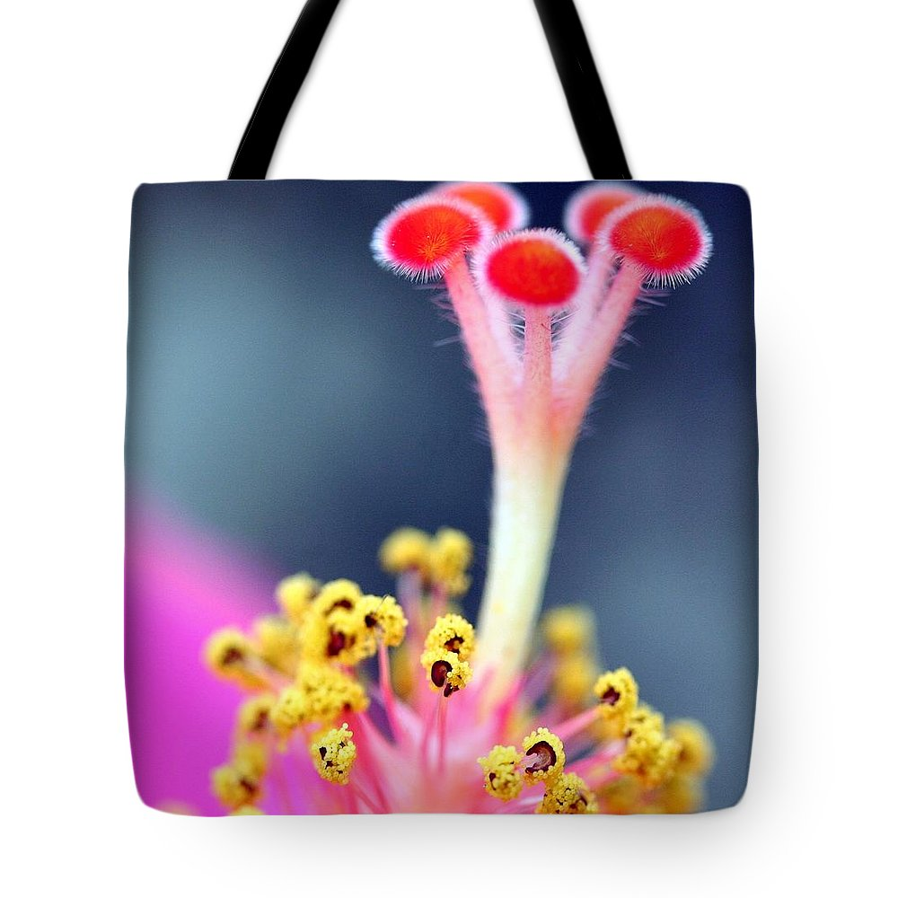 Macro Tote Bag featuring the photograph Closest Inspection by Mitch Cat