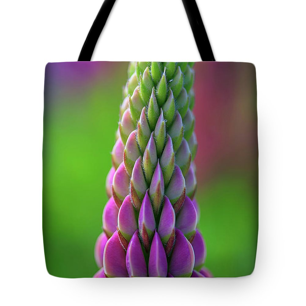 Lupine Tote Bag featuring the photograph Closeup Of A Pink Lupine by Rick Berk