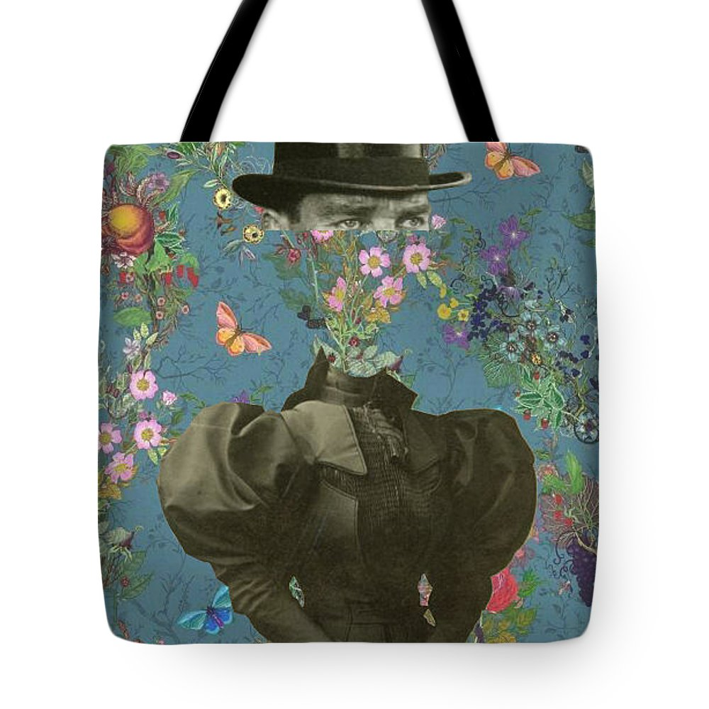 Collage Tote Bag featuring the digital art Clothed, Because You Are Watching Me. by Pixel Wit