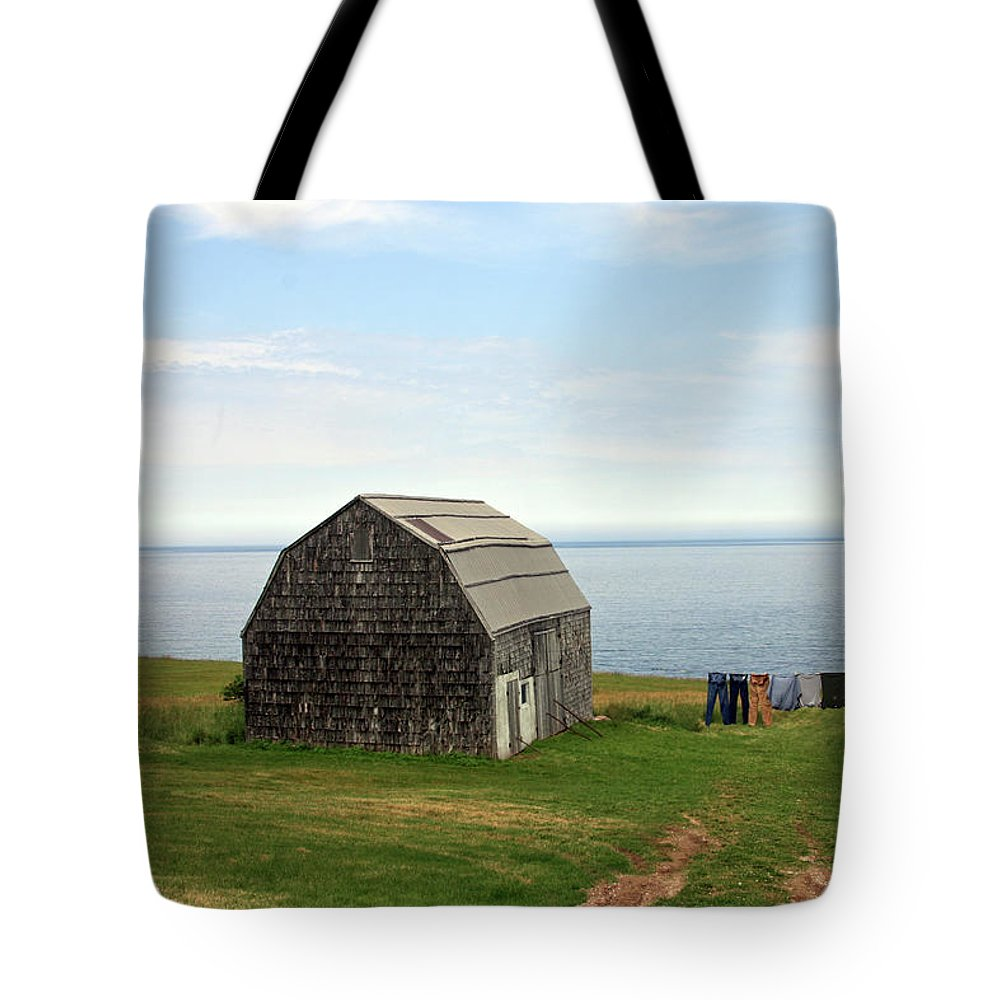 Newfoundland Tote Bag featuring the photograph Clothline by Mark Alesse