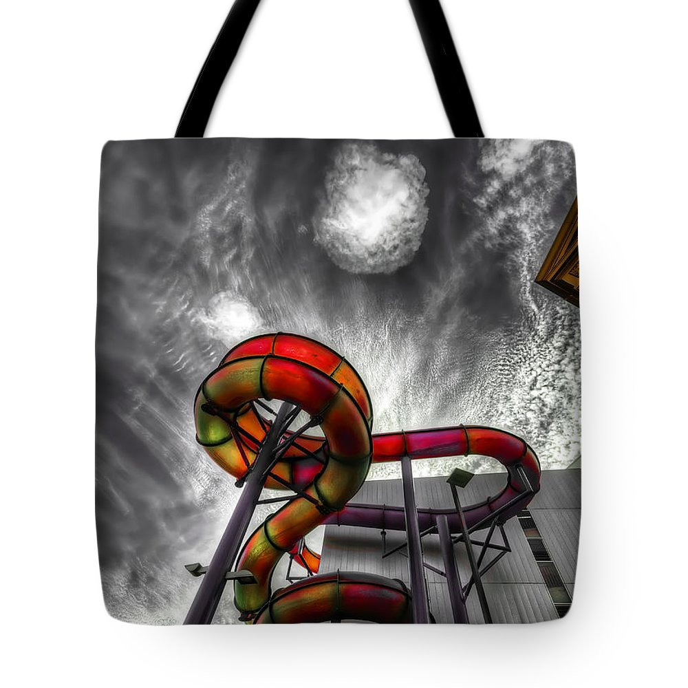 Amusement Tote Bag featuring the photograph Cloud 9a by Wayne Sherriff