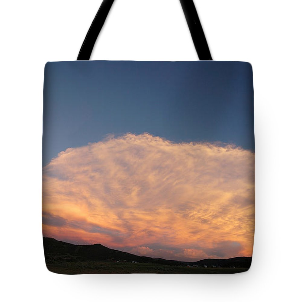 Cloud Tote Bag featuring the photograph Cloud Afar by Jerry McElroy