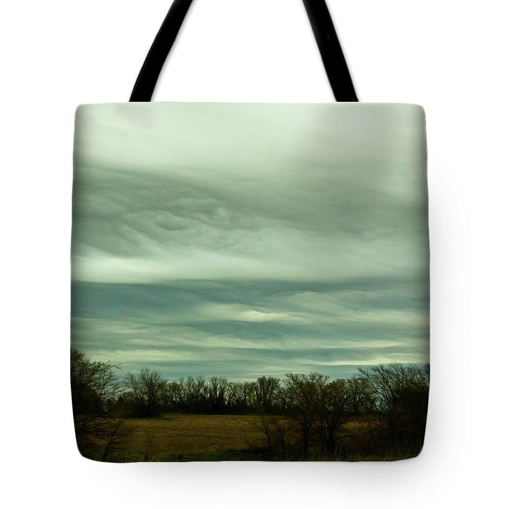 Landscape Tote Bag featuring the photograph Cloud Cover by Jill Smith