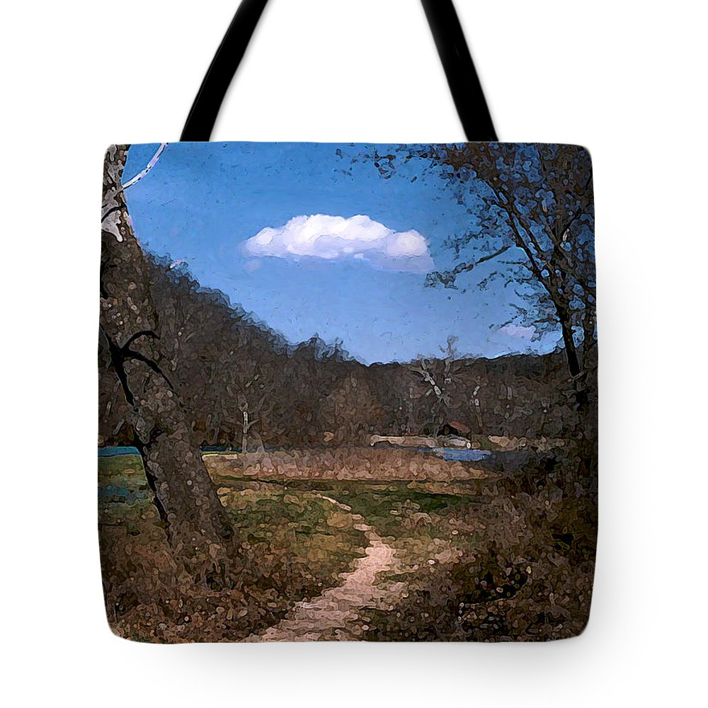 Landscape Tote Bag featuring the photograph Cloud Destination by Steve Karol