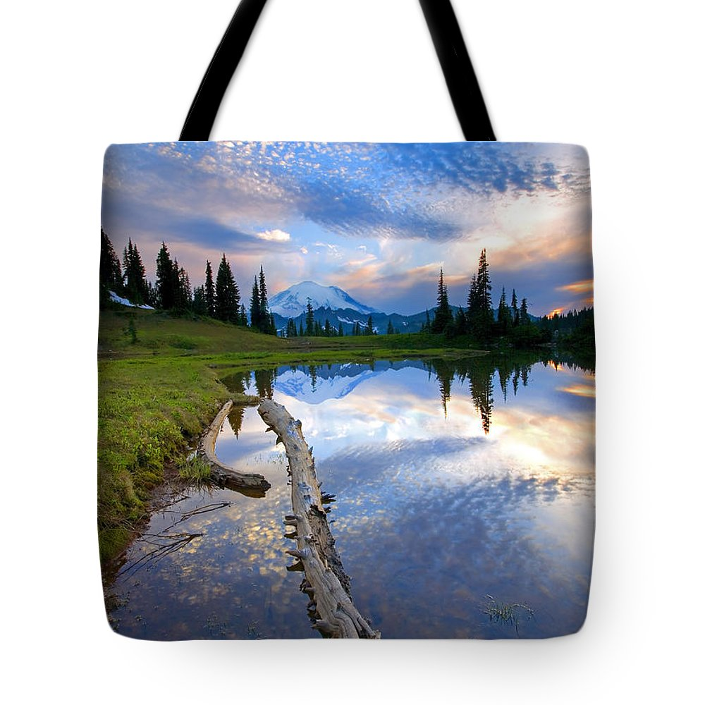 Landscape Tote Bag featuring the photograph Cloud Explosion by Mike Dawson