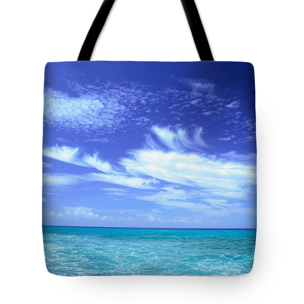 Beautiful Tote Bag featuring the photograph Cloud Formations by Erik Aeder - Printscapes