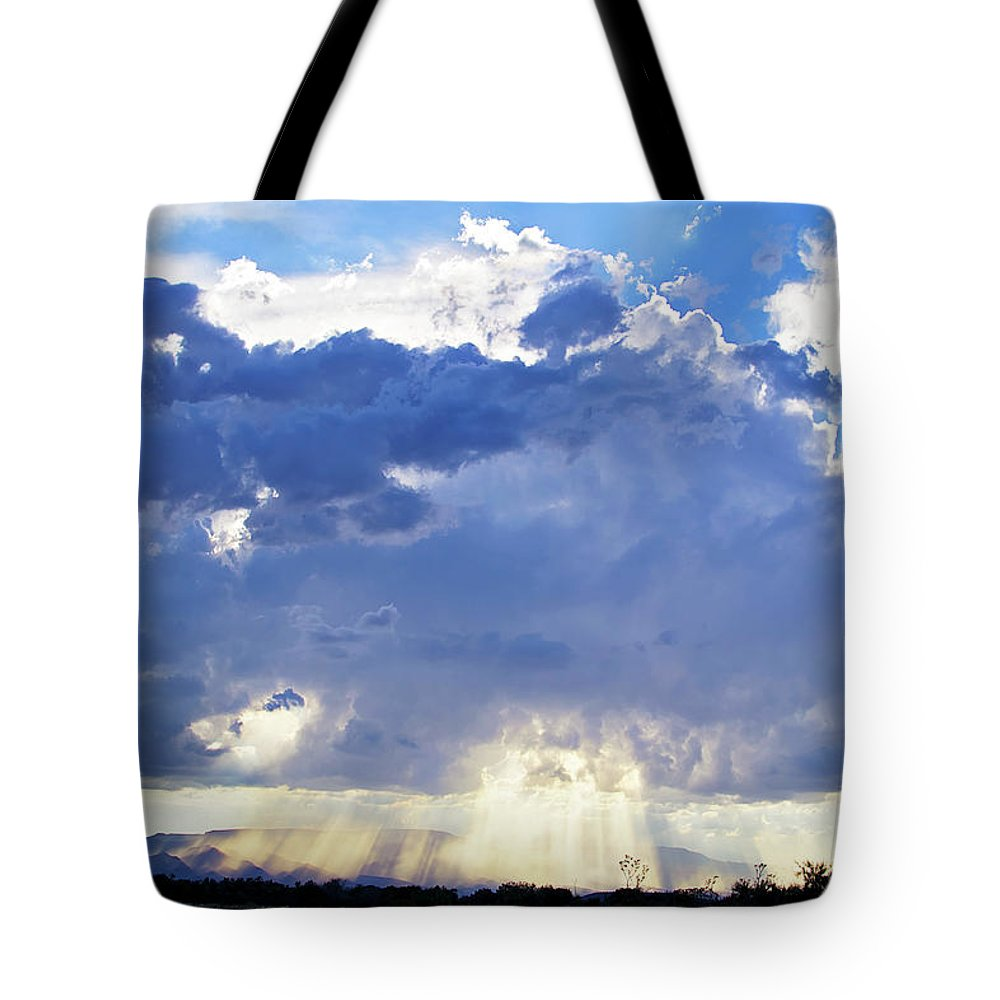 Clouds Tote Bag featuring the photograph Cloud Storm On The Horizon by Micah Williams