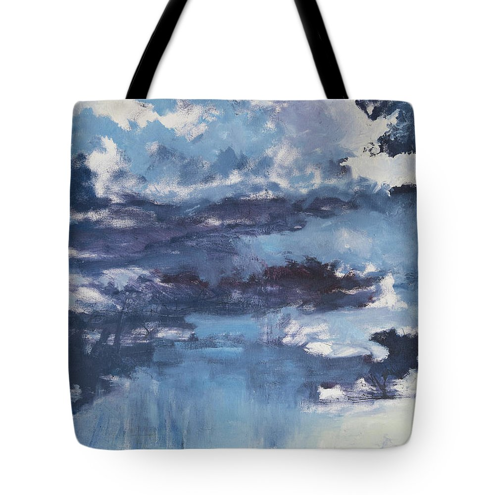Clouds Tote Bag featuring the painting Cloud Study by Craig Newland