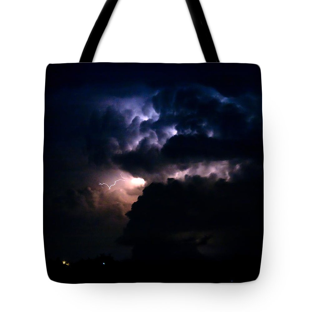 Lightning Tote Bag featuring the photograph Cloud To Cloud Lightning Photography by James BO Insogna