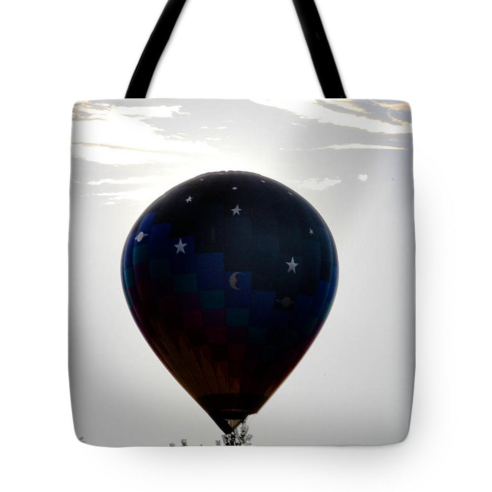 Balloon Tote Bag featuring the photograph Clouds And Stars                  by Victory Designs
