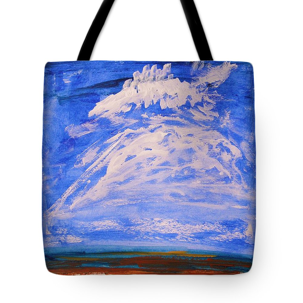 Clouds Tote Bag featuring the painting Clouds Dance by Mary Carol Williams
