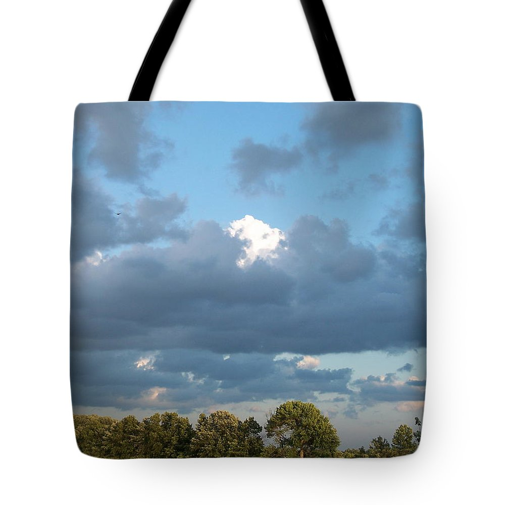 Landscape Tote Bag featuring the photograph Clouds In A Bright Sky by Michelle Miron-Rebbe