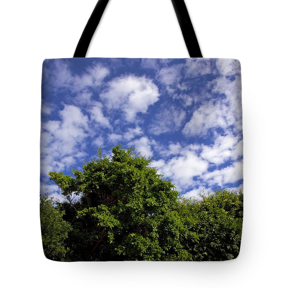 Sky Tote Bag featuring the photograph Clouds In My Sky by Allan Hughes