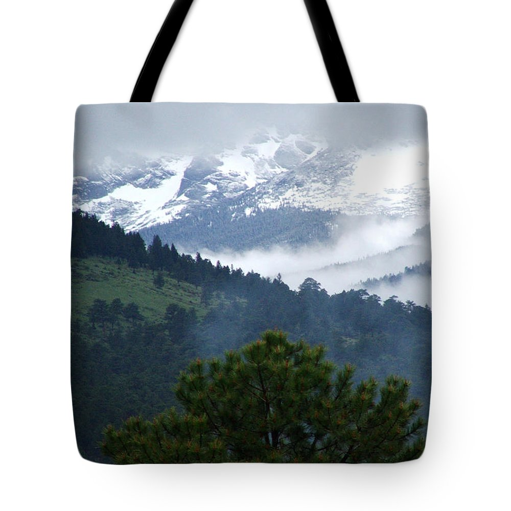 Colorado Tote Bag featuring the photograph Clouds In The Rockies by Bob W Brown