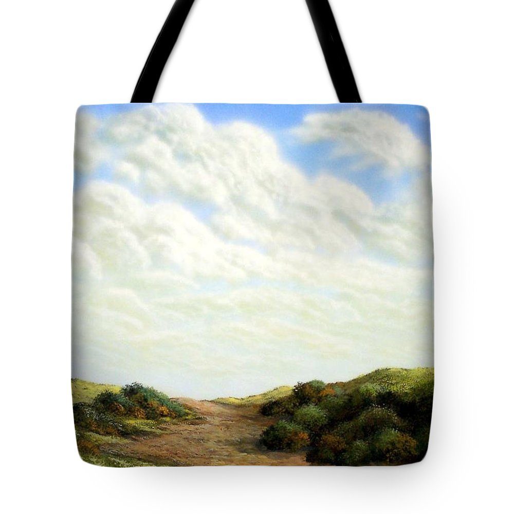 Landscape Tote Bag featuring the painting Clouds Of Spring by Frank Wilson