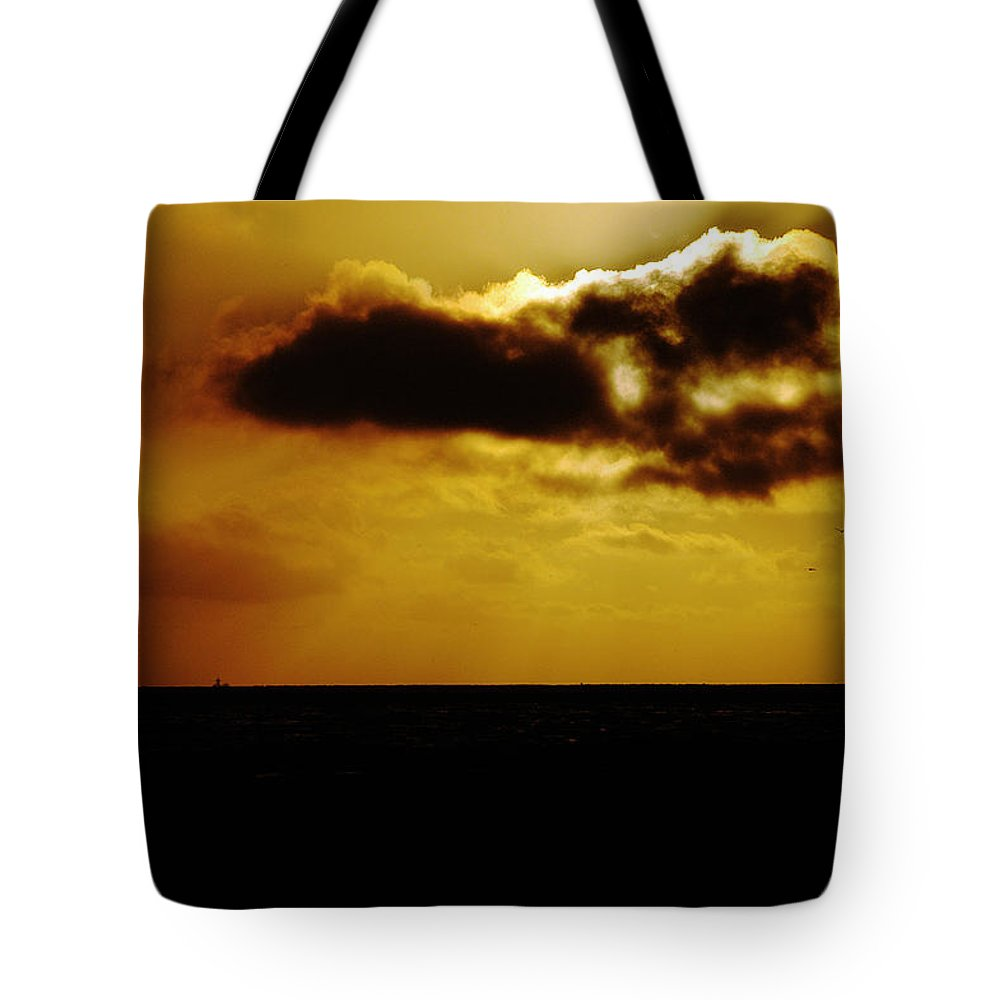 Clay Tote Bag featuring the photograph Clouds Over The Ocean by Clayton Bruster