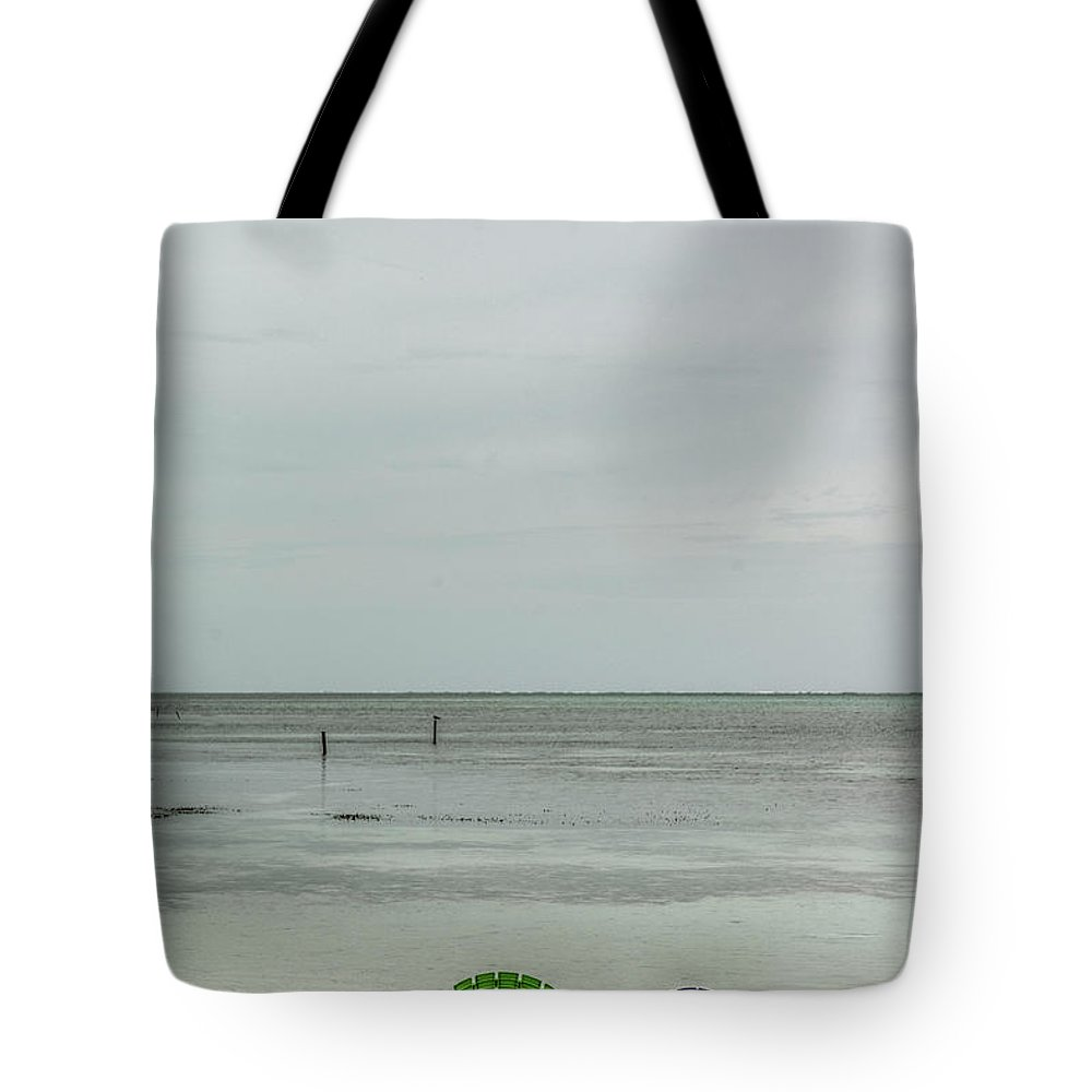 San Pedro Belize Tote Bag featuring the photograph Cloudy Day In Paradise by David Zanzinger