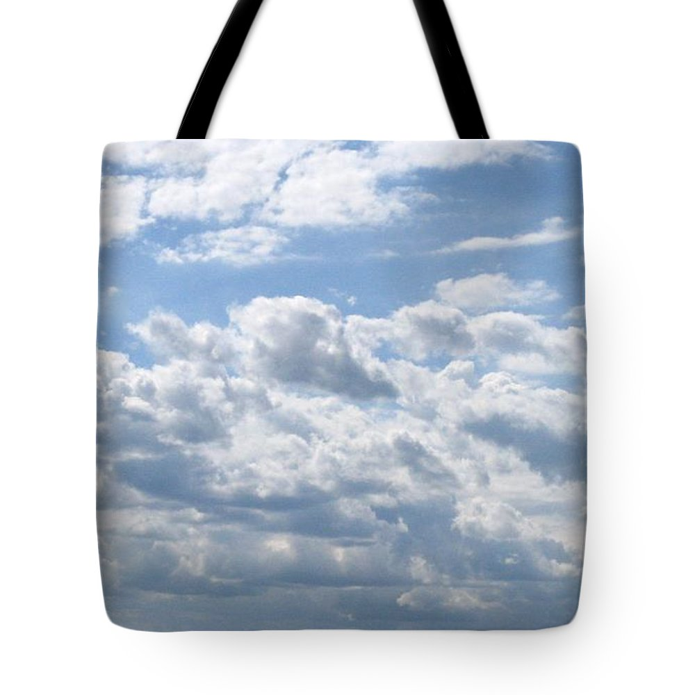 Clouds Tote Bag featuring the photograph Cloudy by Rhonda Barrett