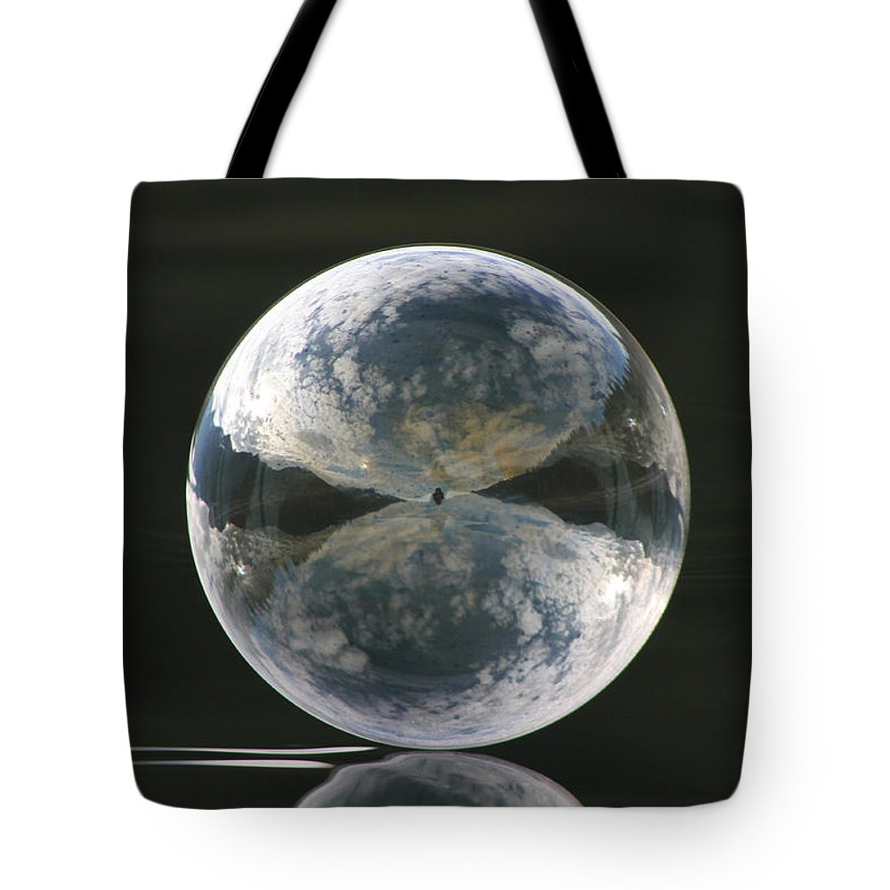 Bubble Tote Bag featuring the photograph Cloudy Skies by Cathie Douglas