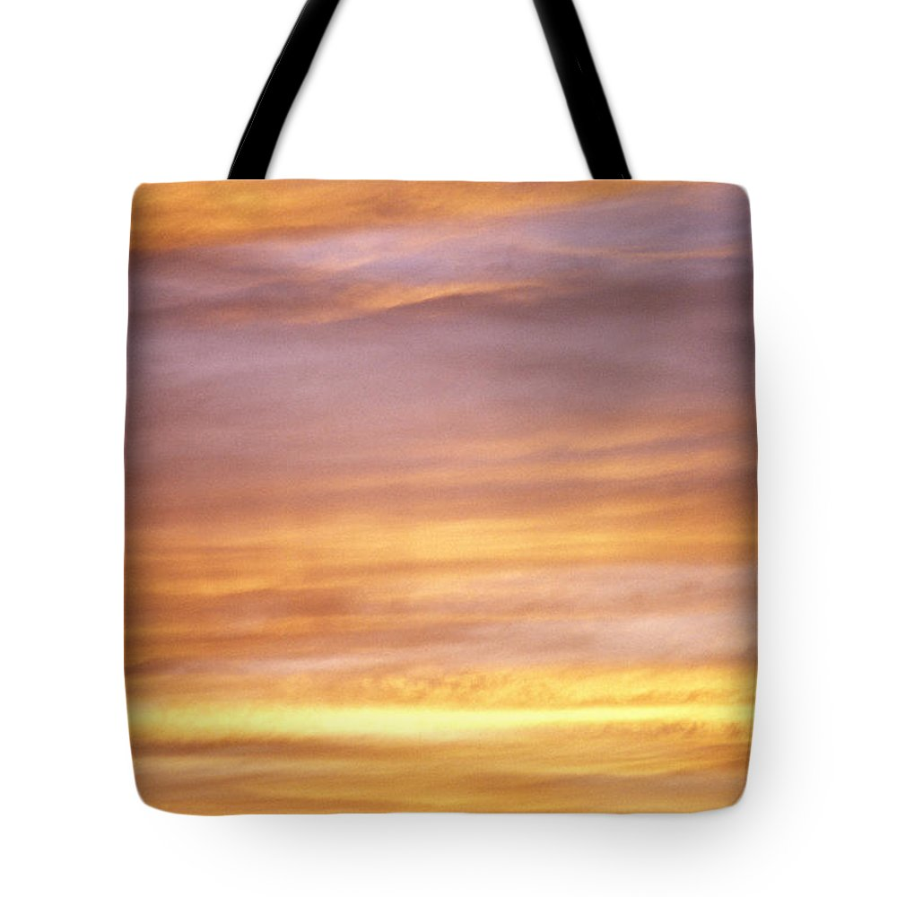 Afternoon Tote Bag featuring the photograph Cloudy Sunset Sky by Carl Shaneff - Printscapes