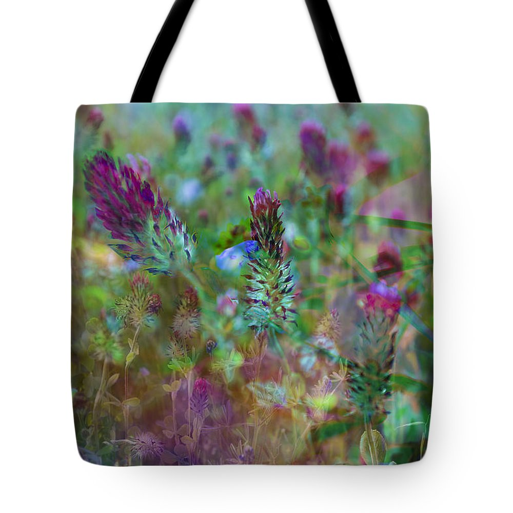 Clover Tote Bag featuring the photograph Clover Field Impressions by Sheryl Karas