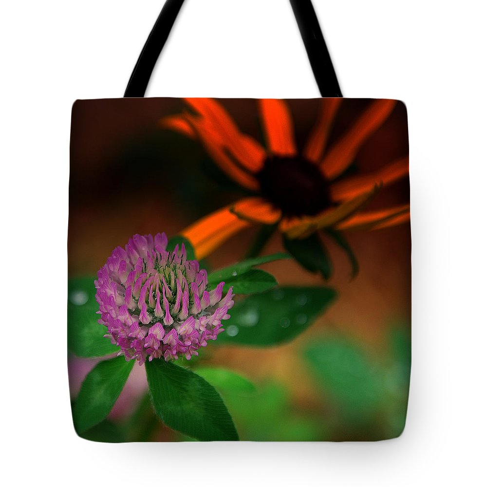 Clover Tote Bag featuring the photograph Clover In My Yard by Susanne Van Hulst