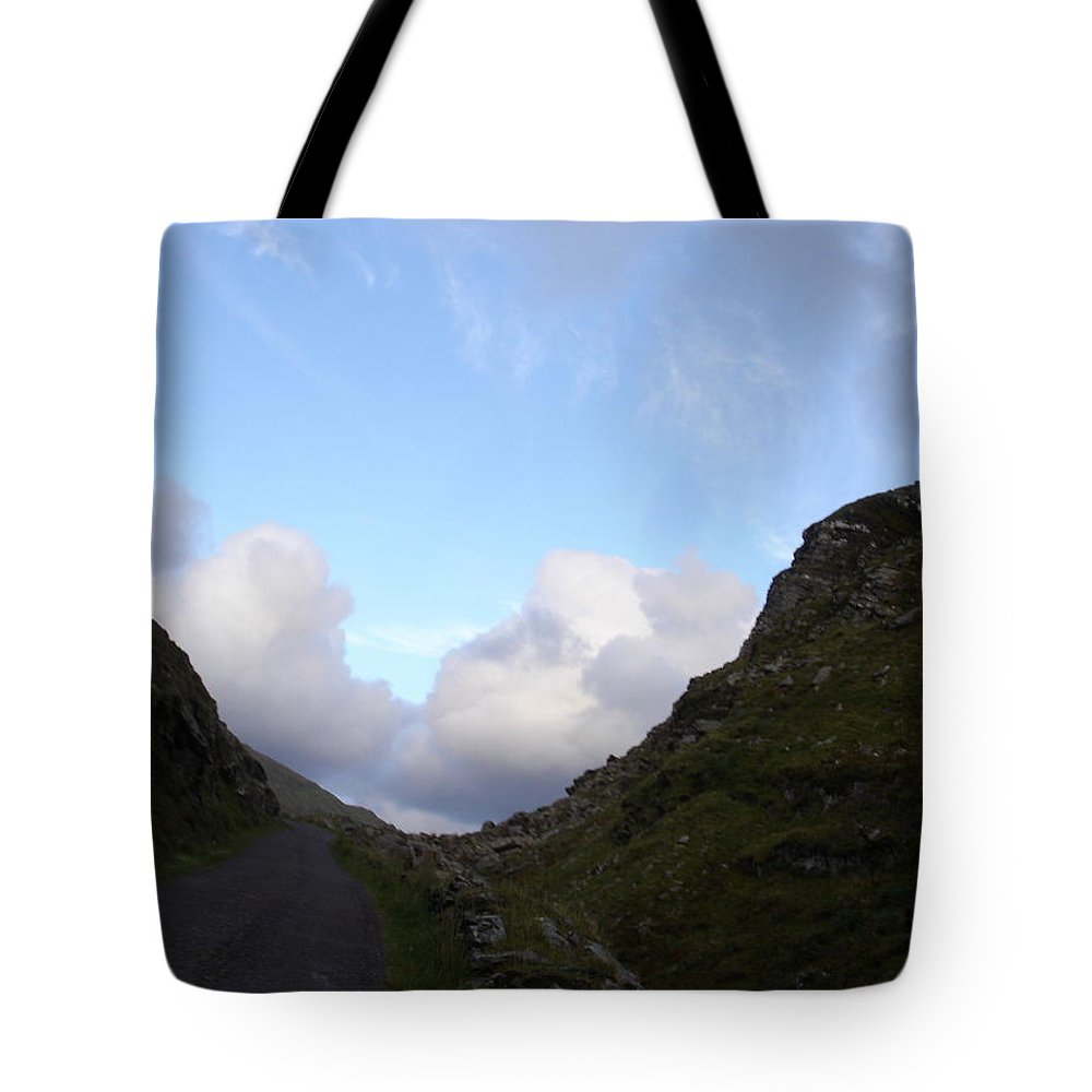 Tote Bag featuring the photograph Clowdy Drive by Kelly Mezzapelle