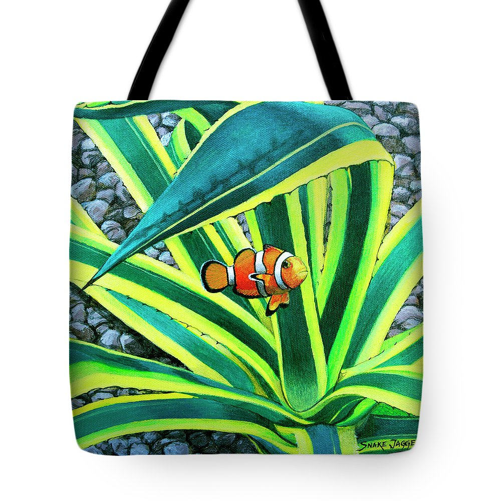 Fish Tote Bag featuring the painting Clownfish by Snake Jagger