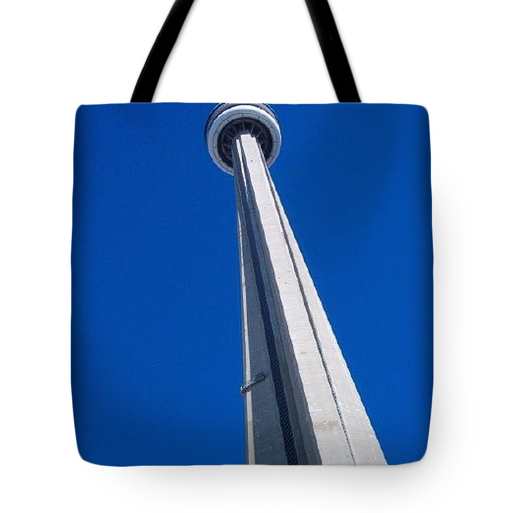 Landscape Tote Bag featuring the photograph Cn Tower by Debbie Levene