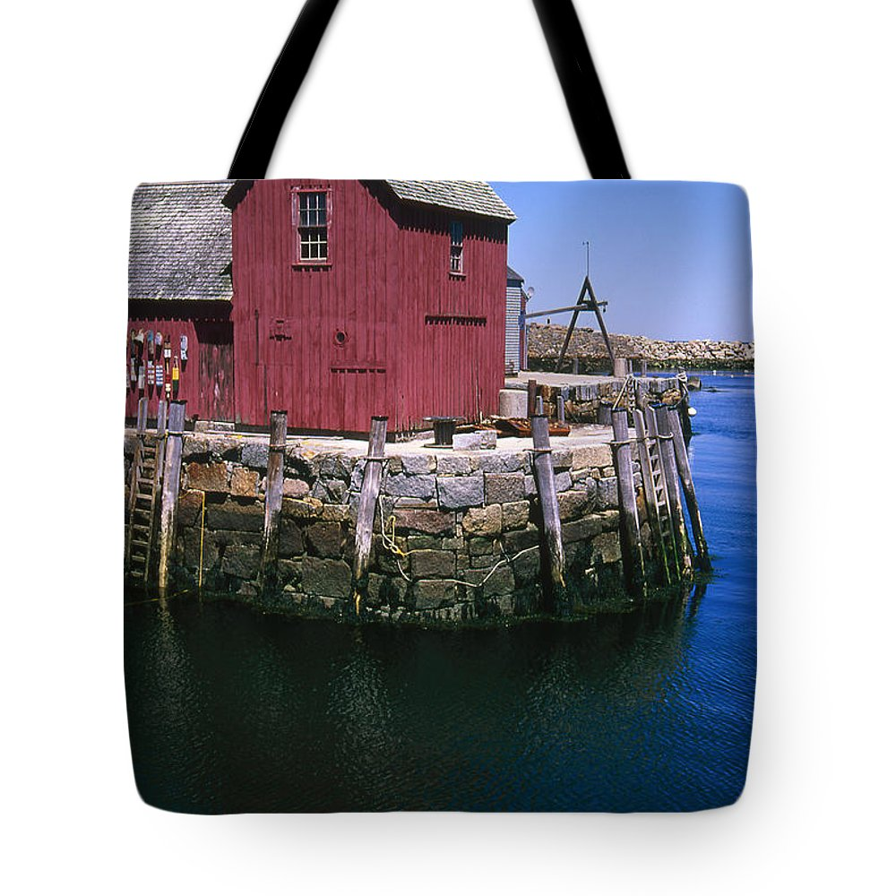 Landscape New England Rockport Motif Number 1 Tote Bag featuring the photograph Cnrf0506 by Henry Butz