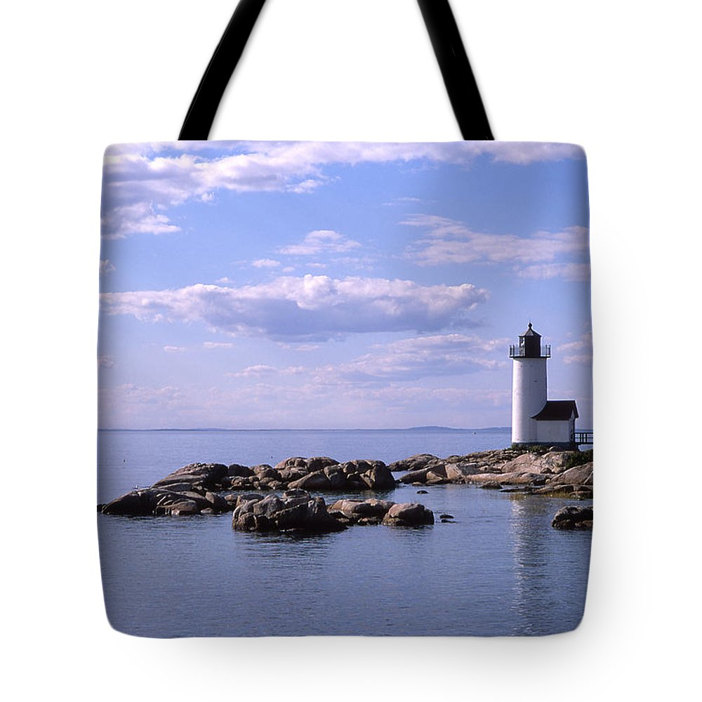Landscape Lighthouse New England Nautical Tote Bag featuring the photograph Cnrf0901 by Henry Butz