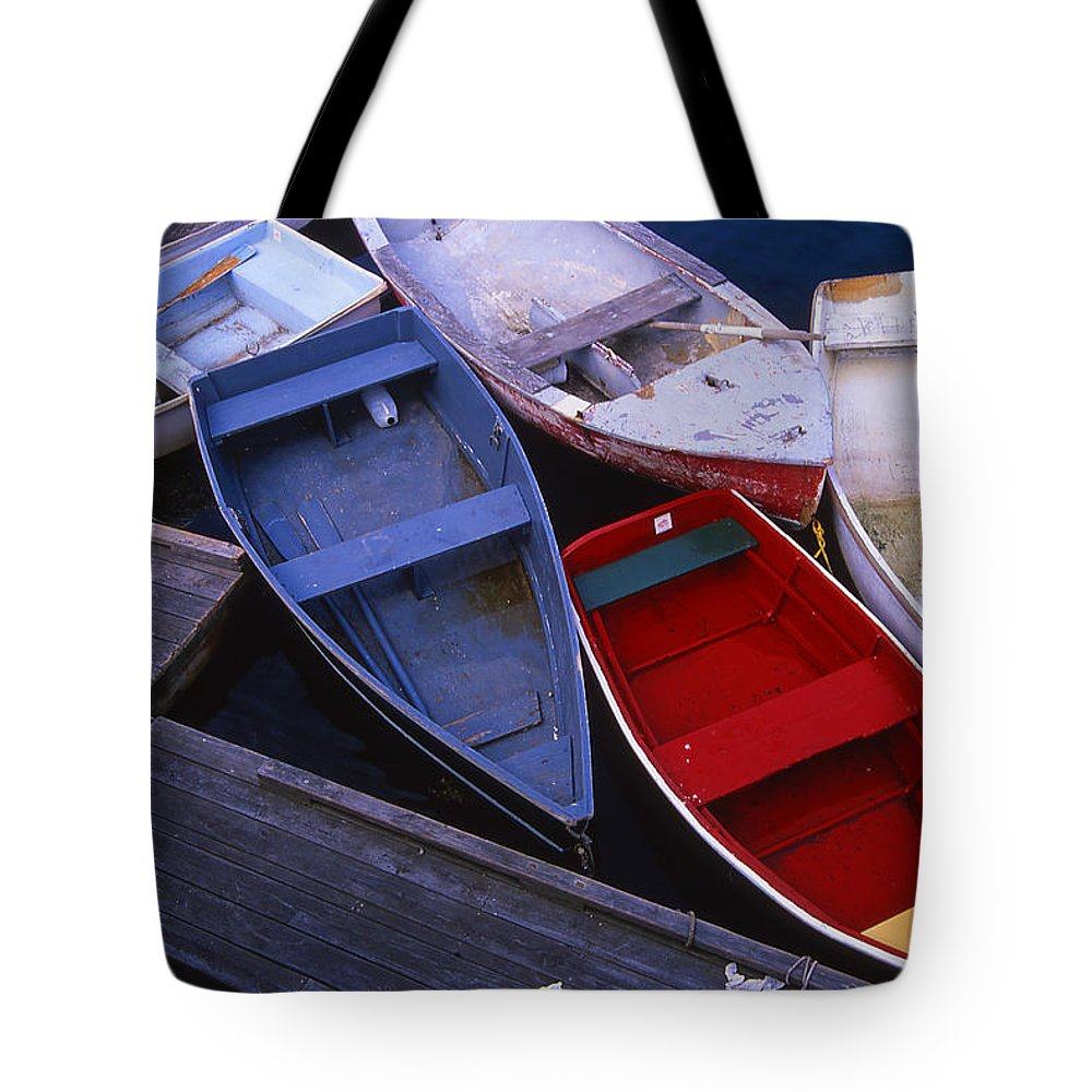 Landscape New England Boat Fishing Nautical Coast Tote Bag featuring the photograph Cnrf0906 by Henry Butz