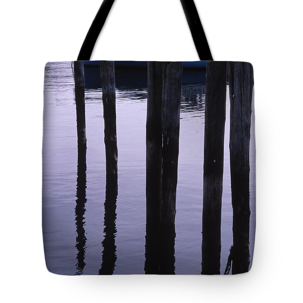 Landscape New England Fishing Boat Nautical Coast Tote Bag featuring the photograph Cnrf0907 by Henry Butz