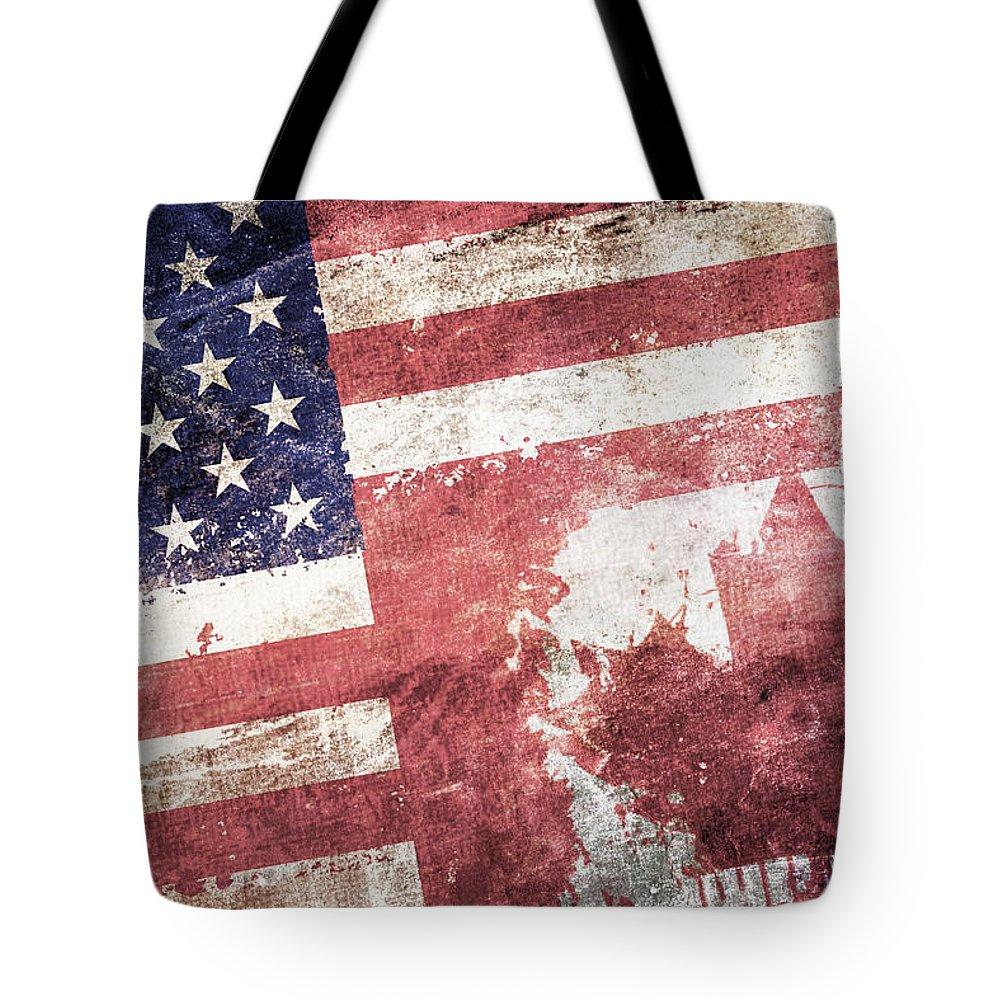 Composite Tote Bag featuring the digital art Co-patriots by Az Jackson
