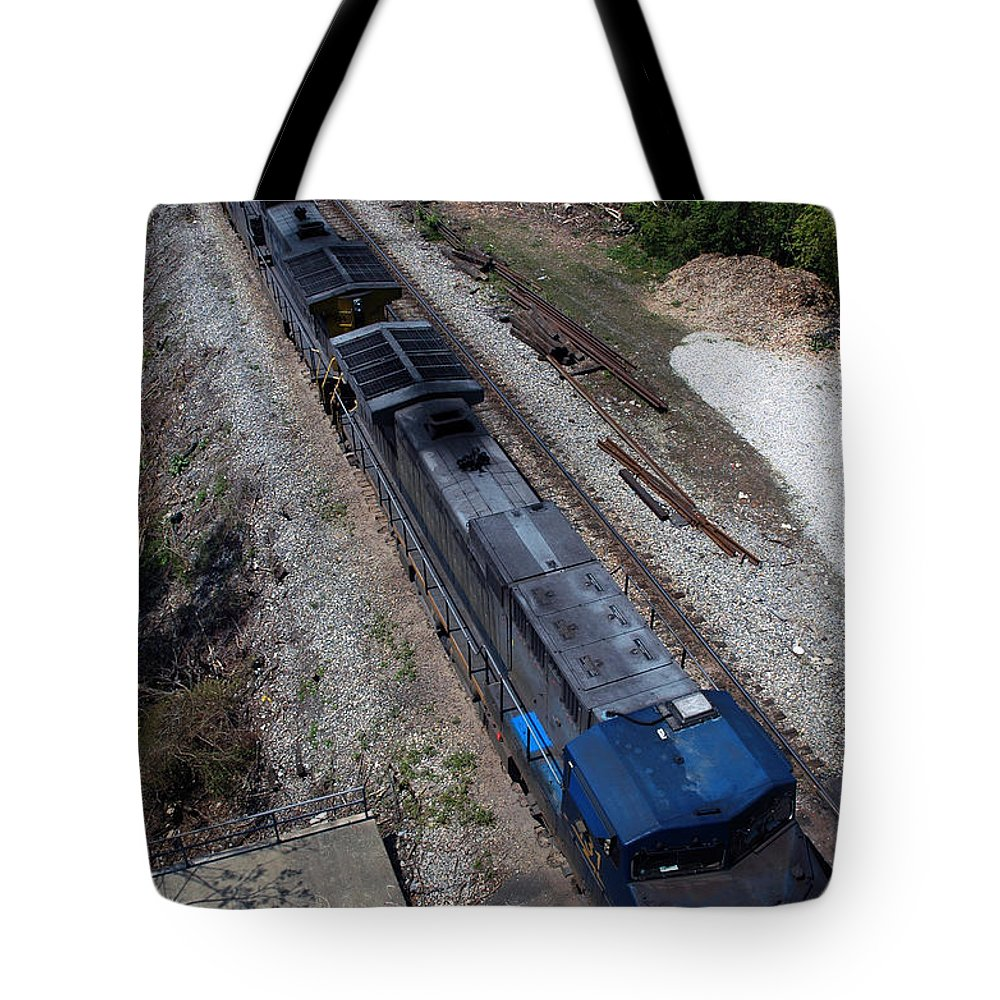 Train Tote Bag featuring the photograph Coal Crossing by Kelvin Booker