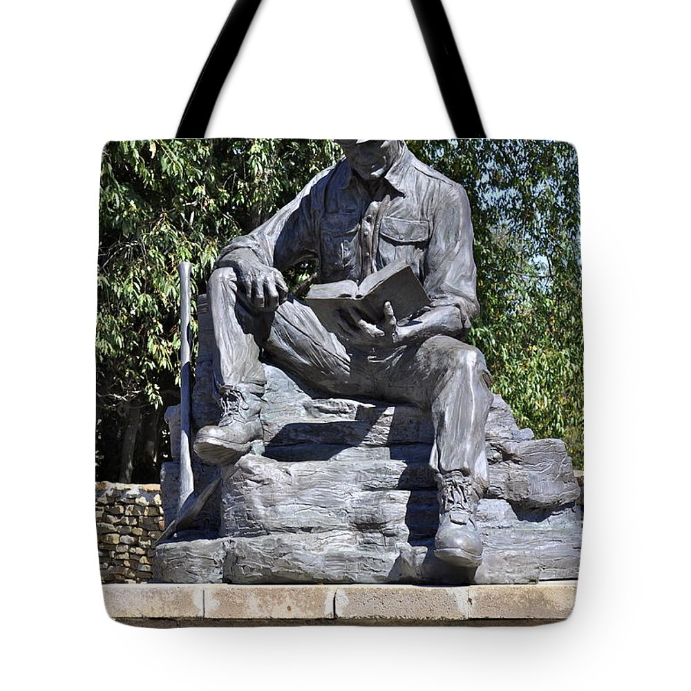 Nine For Nine Tote Bag featuring the photograph Coal Miner's Tribute by Penny Neimiller