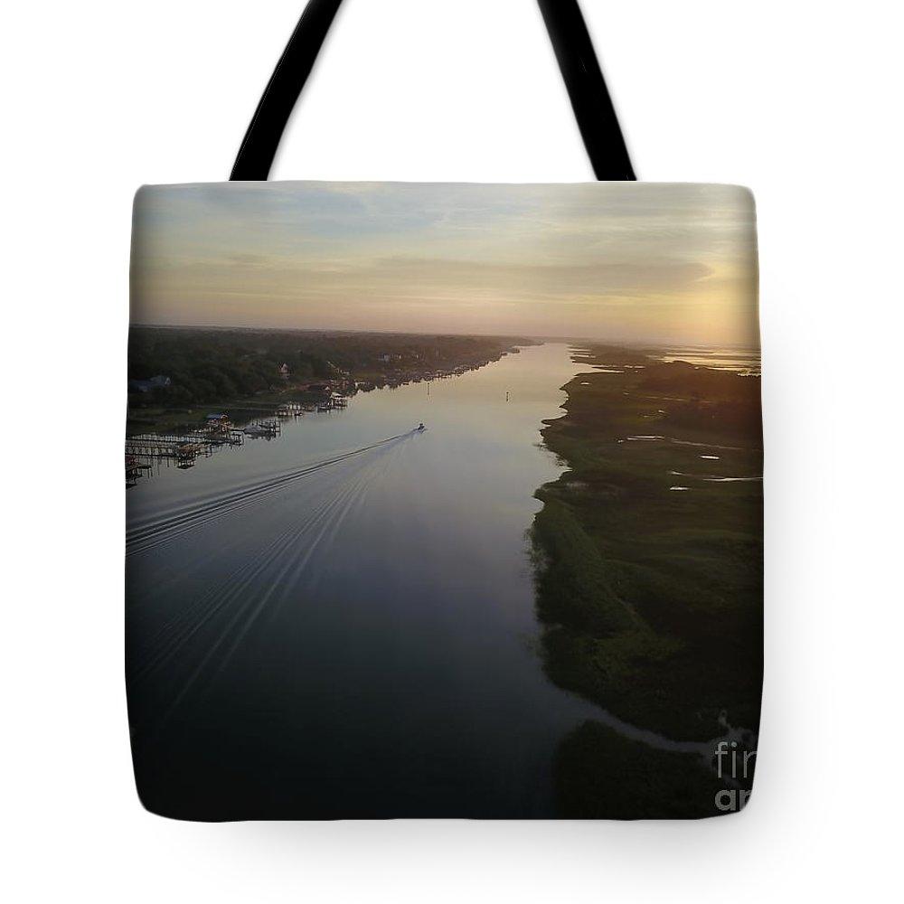 Sunrise Tote Bag featuring the photograph Coastal Carolina Sunrise by Raynor Garey