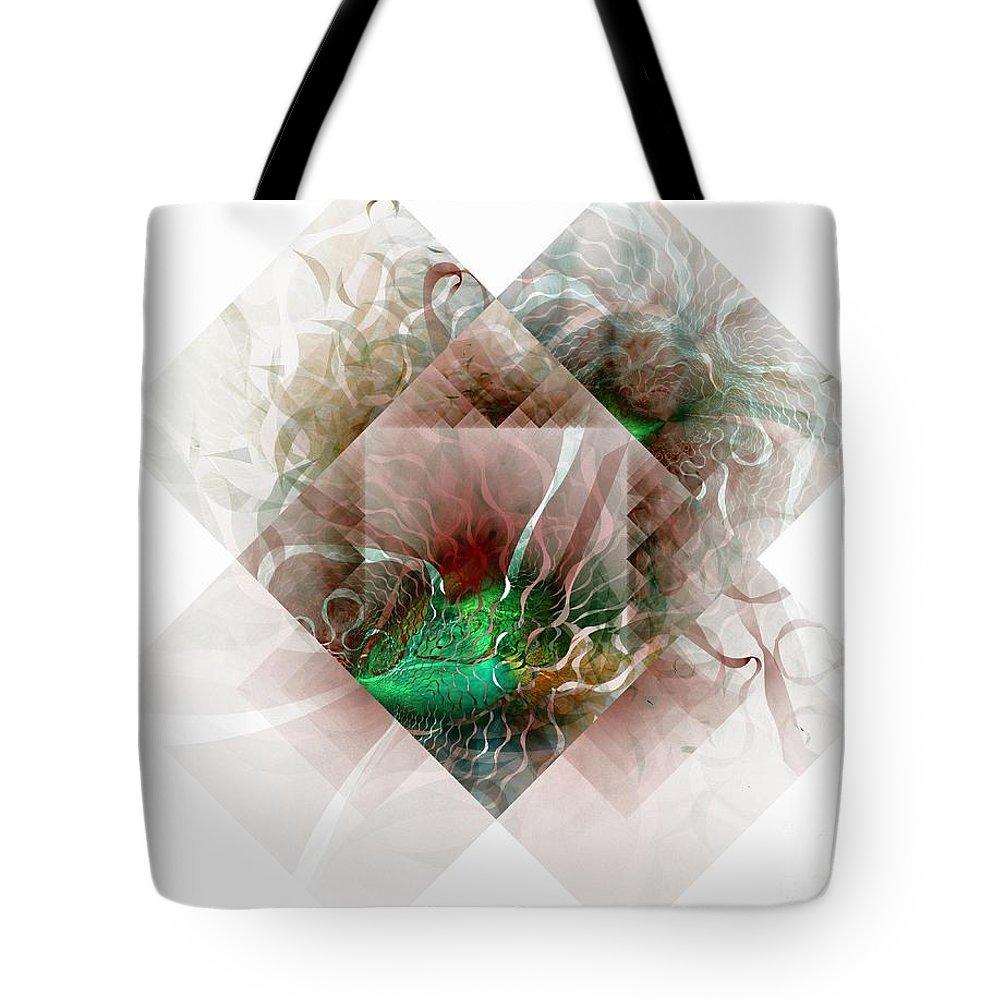 Digital Art Tote Bag featuring the digital art Coastal Memoirs by Amanda Moore