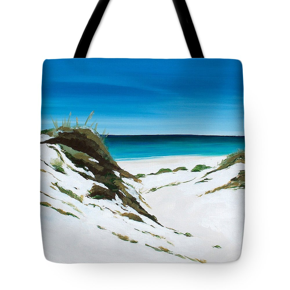 Dunes Tote Bag featuring the painting Coastal Treasure by Racquel Morgan