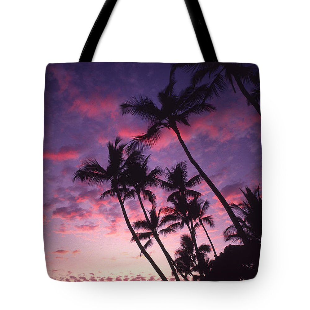 Boat Tote Bag featuring the photograph Coastline Palms by Ron Dahlquist - Printscapes